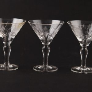 Lorup crystal glass 3pc