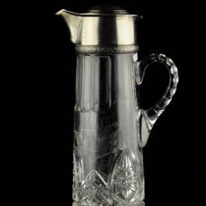 MÜÜDUD - Antiikne EW kristall morsikann, 875 hõbedast kael ja kaas