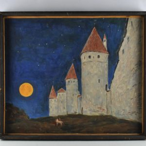 Painting Night Tower Square A.Sorokin