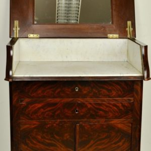 A chest of drawers with a mahogany stone, 19th century