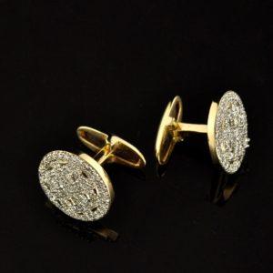 Mansetinööbid - 585 kuld, briljandid