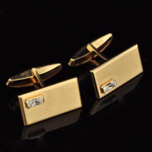 Mansetinööbid, 585 kuld, fianiit