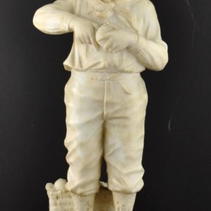 Marble statue Orange boy broken