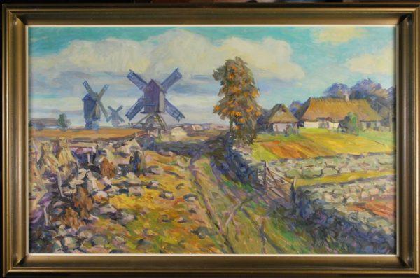 Mart Bormeister 1983, oil painting of Saarema landscape