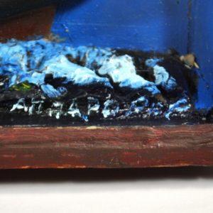 Mereteemaline seinakaunistus, purjekas karbis