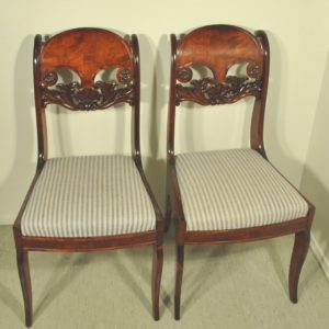 Four Biedermeier-style chairs