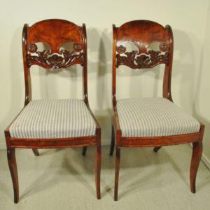 Neli biidermeier stiilis tooli