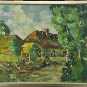 """Nikolai Kull (1894-1945) Talumotiiv"""" 1930a, õlimaal"""""""