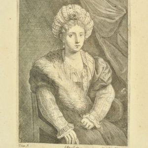 "Nikolaus van Hoy vanaaegne gravüür Isabella Este"""" 14064 Len:14539"