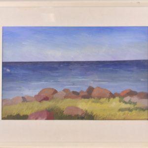 Olav Maran Sea Stones 1982a, gouache, tempera