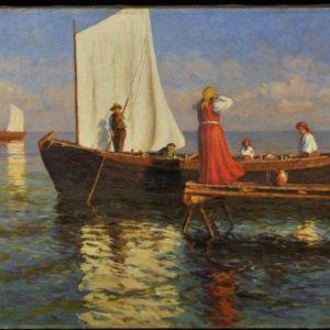 Oskar Obst (1883-1944) in oil painting in 1919
