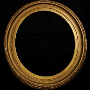Oval shaped gilt wood frame