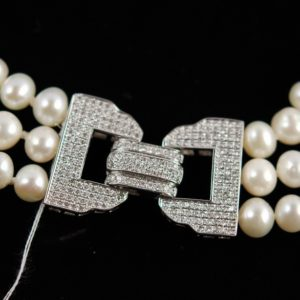 Beads, 925 sterling silver buckle