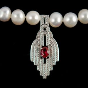 Beads 925 sterling silver pendant with zircon