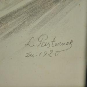 "Pliiatsijoonistus L.Pasternak dec.1920"""""