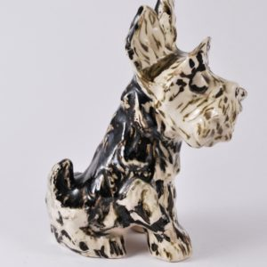 Porcelain dog figure - Kuznetsov Latvia