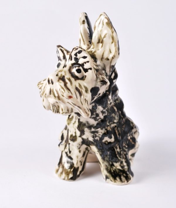 Porcelain dog figure - Kuznetsov Latvia