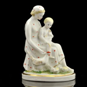 "Porcelain Shape ""Mother Feeding the Chicken"" Krasnoy Farforist SOLD"