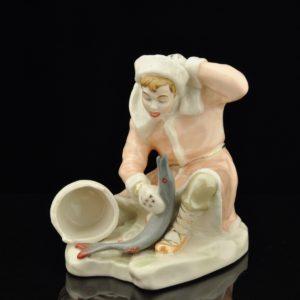 """Porcelain shape """"Fisherman"""" Minsk 1957-65a SOLD"""