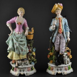 German porcelain shape of a pair of Man and woman