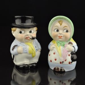 Porcelain Salt Tops Madam and Mr