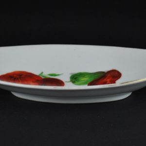 Porcelain platter with tomatoes