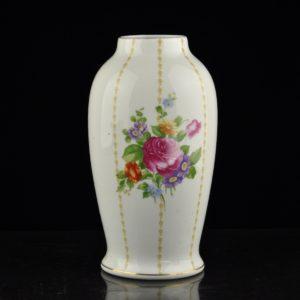 Porcelain vase with flowers Rosenthal Bavaria