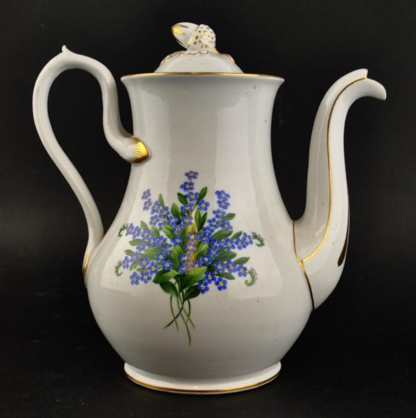 An old coffee pot of porcelain