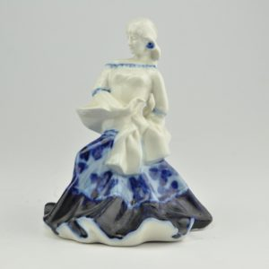 "Porcelain shape ""Dancer with blue skirt"""