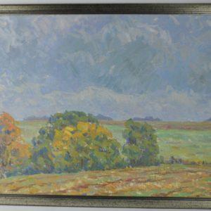 """Priidu Aavik(1905-1991) Põllu veer""""1971a"""""""