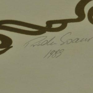 """Priidu Soans """"Tallinna vapp""""serigraafia 1989a"""