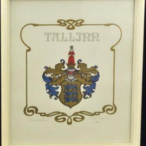 "Priidu Soans ""Tallinn coat"" serigraphy 1989a"