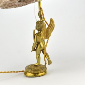 Bronze table lamp angel SOLD