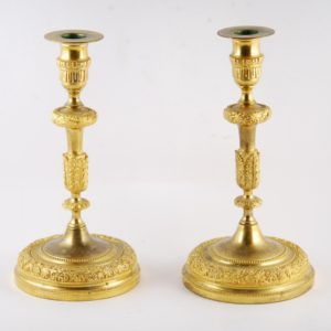 The bronze candlestick couple