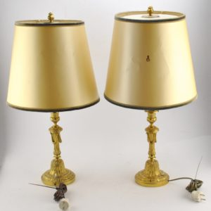 bronze table lamp 2 pc
