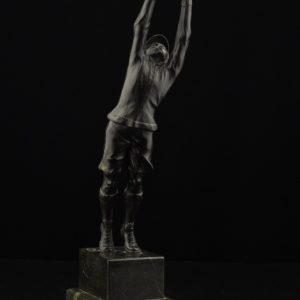 Bronze statue on the stone base Footballer 1920