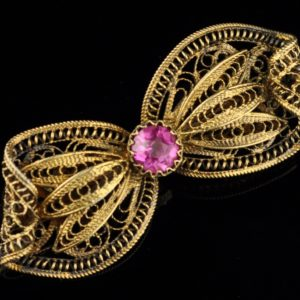 Silver 916 brooch, gold plated - SOLD