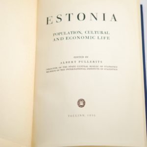 Books Estonian 1935y