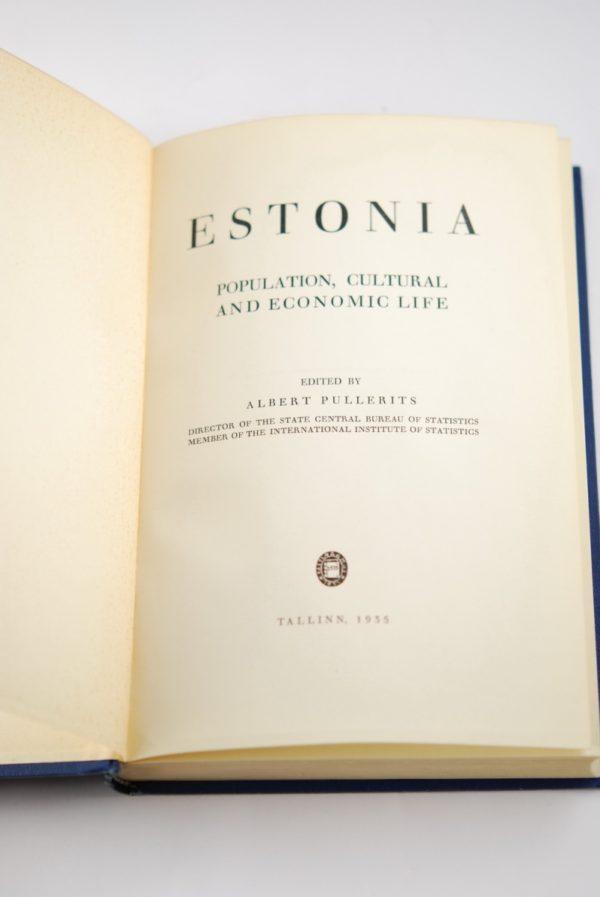 Raamat - ESTONIA - A.Pullerits 1