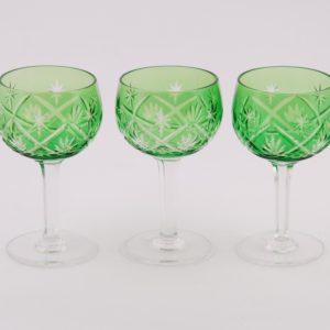 Rohelised kristallklaasid - 3tk.