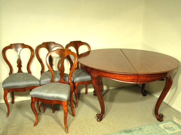 A large table , mahogany 19th century