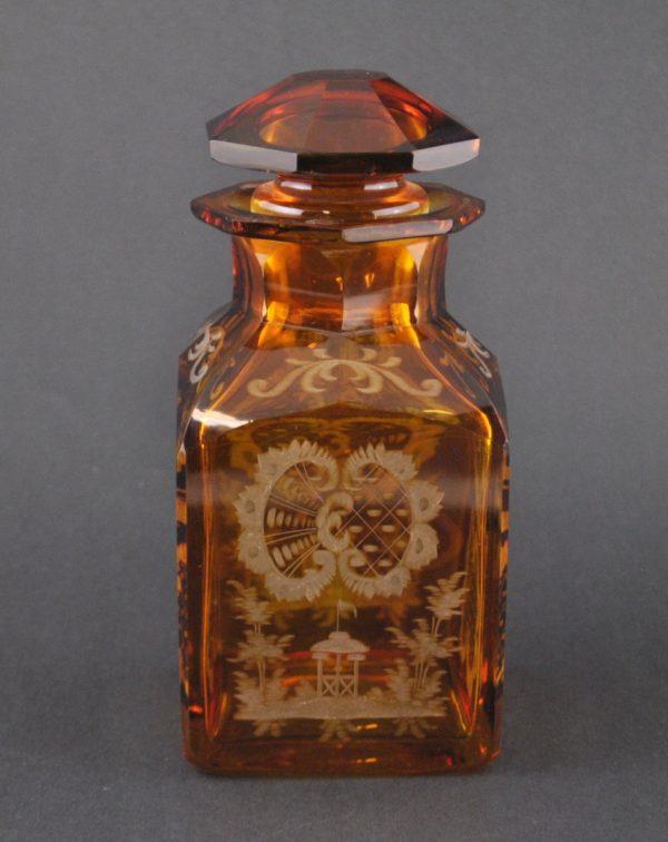 Teetops, pruunikas klaas, jahiteemaline 1900a