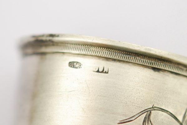 Russian silver 84 napkin ring