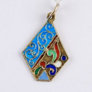 Russian silver 84 pendant