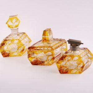 Tualettlaua komplekt - kristall, etsing