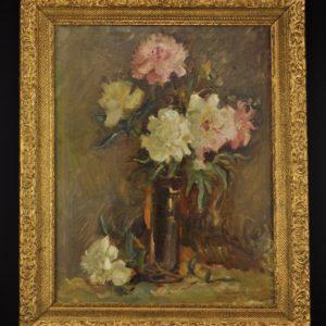 "Antique oil painting ""Flowers"""
