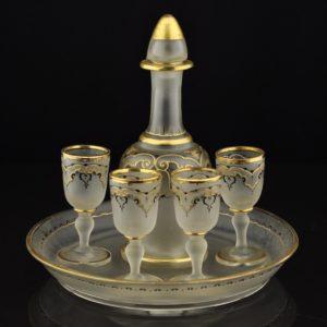 Vanaaegne joogi komplekt, mattklaas kullaga
