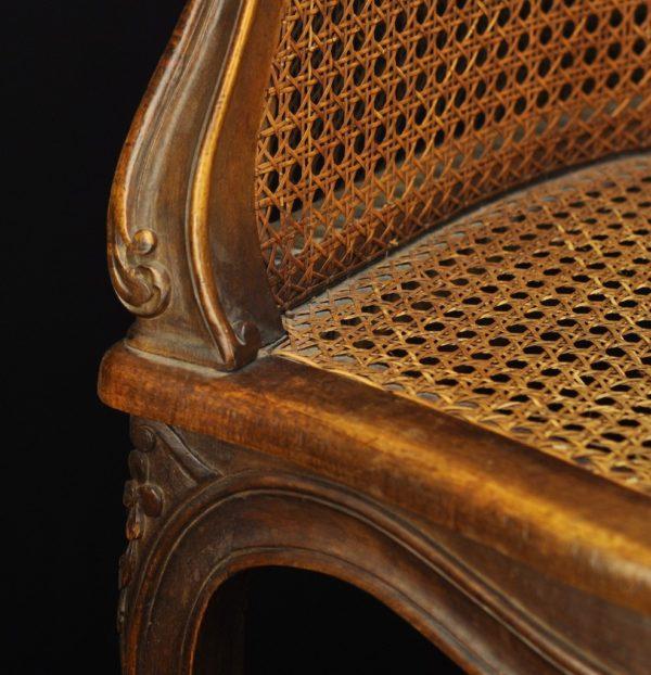 Vanaaegne kirjutuslaua tool, rotang