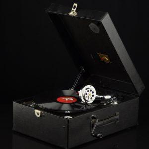 """Vanaaegne kohver-grammofon Master's Voice"""""""" 14634 Len:14859"""