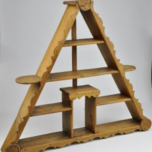 Old triangular wall shelf